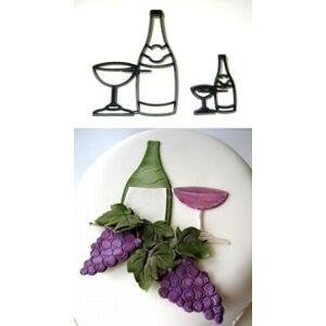 Patchwork vypichovač Fľaša a poháre - Bottle & Glass - Patchwork Cutters