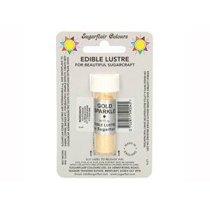 Zlatá prachová farba perleťová Gold Sparkle (Zlatá trblietavá) - Sugarflair Colours