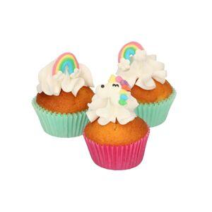 Cukrové zdobení malé Jednorožec a duha - Unicorn & Rainbow - 8 ks - FunCakes
