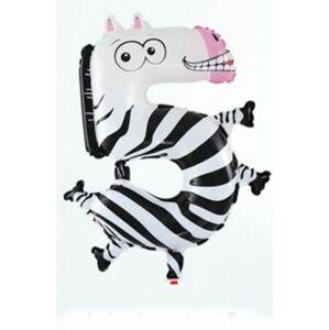 Balón fóliový Zebra 35 cm 5 (NEDÁ SA PLNIŤ héliom) - BALONČ