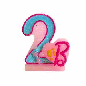 Narozeninová svíčka Barbie číslo 2 - Arpex