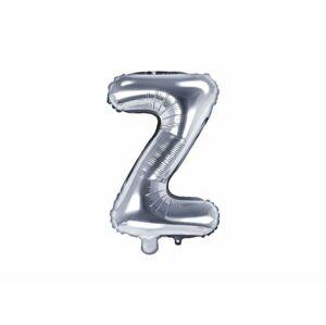 """Balón foliový písmeno """"Z"""", 35 cm, stříbrný (NELZE PLNIT HELIEM) - PartyDeco"""