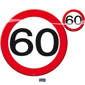 Prestieranie dopravná značka 60, 4x tanier, 4x pohárik - Folat
