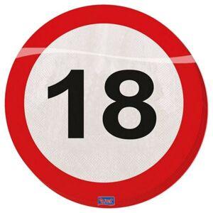 Servítky dopravná značka 18, 33x33 cm 20 ks / bal. - Folat