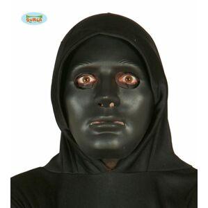 Čierna maska - Halloween, PVC - GUIRCA