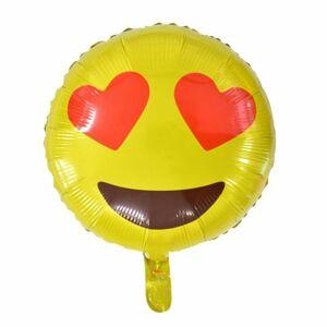 Balón foliový Smajlík Love 45 cm - BALONČ