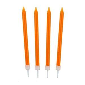 Narodeninové sviečky 8,6 cm 10 ks oranžové - GoDan
