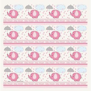 Baliaci papier umbrellaphants Baby shower Dievča / Girl 76 cm x 154 cm - UNIQUE