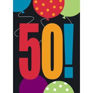 Pozvánky - Happy Birthday Cheer 8 ks - 50 rokov - UNIQUE