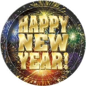 Taniere Happy New Year 22,5 cm - 8 ks - Silvester - UNIQUE
