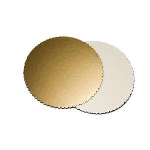 Tortová podložka zlatá kruh 22 cm - Artigian
