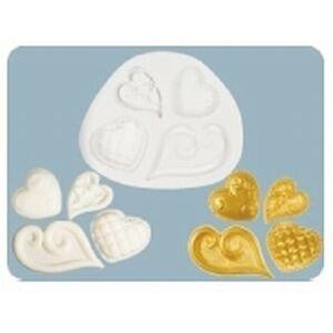 Silikónová formička Fancy Hearts (Zdobená srdiečka) - FPC Sugarcraft