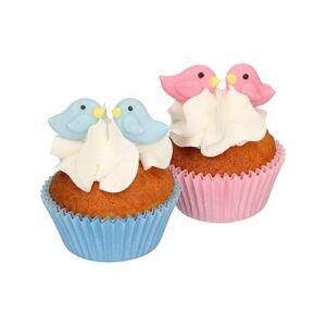 Cukrová dekorácie zamilovaní vtáčiky 16 ks - FunCakes