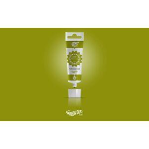 Olive Green ProGel - profesionální potravinářská gelová barva v tubě (zelená) - Rainbow Dust