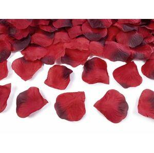 Okvětní lístky růží textilní červené 100ks - PartyDeco