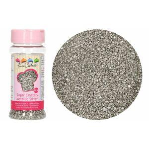 Farebný dekoračný cukor strieborný 80 g - FunCakes