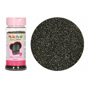 Farebný dekoračný cukor čierny 80 g - FunCakes