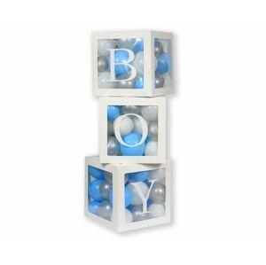 Dekorativní boxy na balónky BOY / 3 ks - GoDan