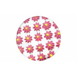 Cukrová dekorace - Gerbery/Astry 28 ks růžové - Frischmann
