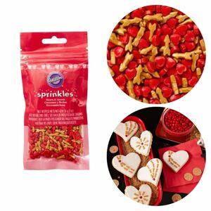 Cukrové sypanie - dekorácia na zdobenie Srdce & šípy - 56g - Wilton