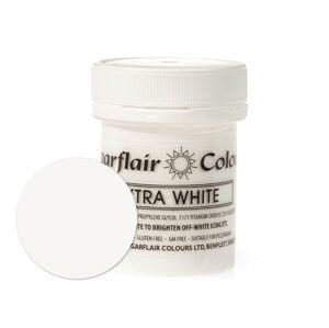 Extra bílá gelová pastová barva - bělidlo potravinářské 42 g - Sugarflair Colours