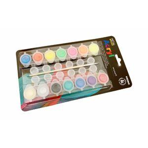 Sada 14 akrylových neónových a metalických farbičiek METAL & FLUO + štetec ako darček - Primo Morocolor Italia