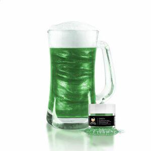Jedlé třpytky do nápojů - zelené - Green Brew Glitter® - 4 g - Brew Glitter