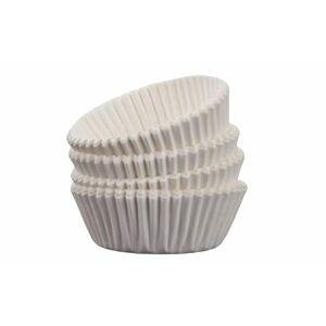 Cukrářské košíčky 100 ks - bílé - 4.5x2.3 cm - Banquet