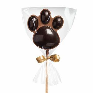 Čokoládové lízátko mléčné/hořké – tlapka - Čokoládovna Janek