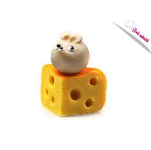 Myška na syre - marcipánová figúrka na tortu - Frischmann